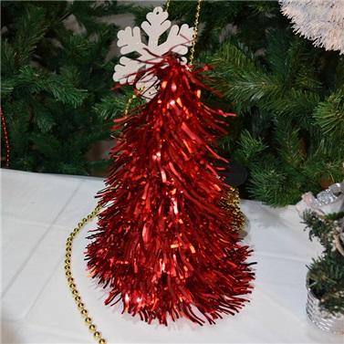 Yılbaşı Çam Ağacı Masa Dekor Süsü Kırmızı