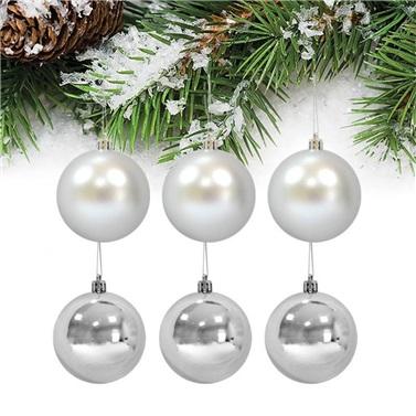Yılbaşı Ağacı Gümüş Top Süsü