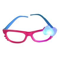Fuşya Mavi Işıklı Parti Gözlüğü