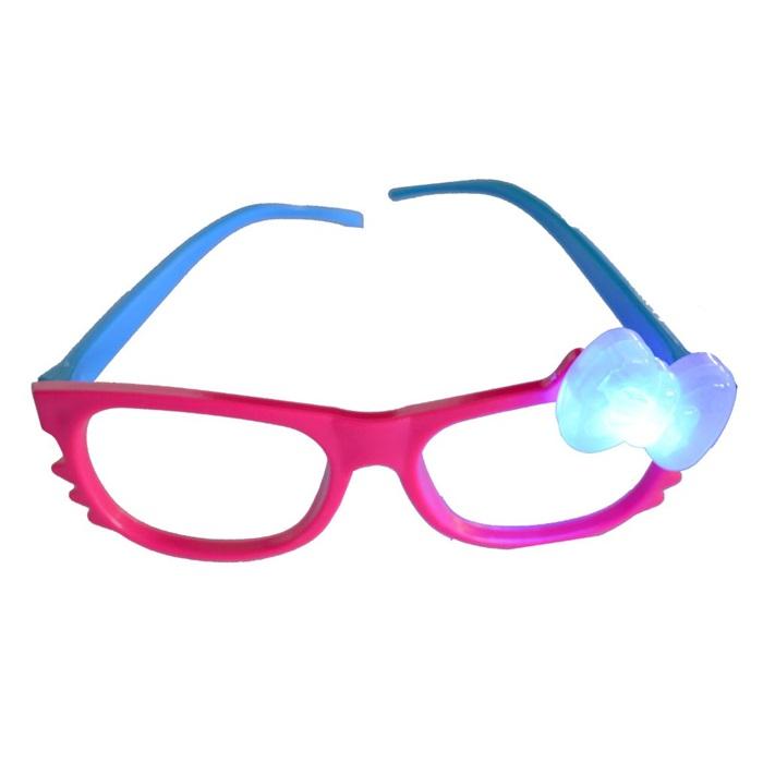 Pembe Mavi Işıklı Parti Gözlüğü
