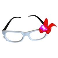 Pembe Kırmızı Işıklı Parti Gözlüğü