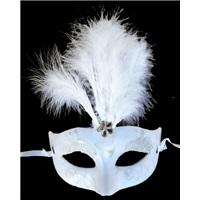 Tüylü Beyaz Parti Maske