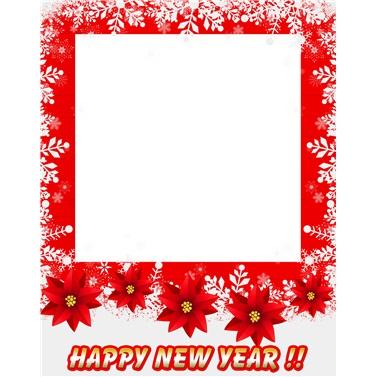 Yılbaşı Happy New Year Fotoğraf Çerçevesi