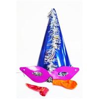 Lacivert Fuşya Gözlüklü Parti Katyon Set Şapka