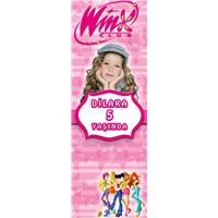 Winx Temalı Kişiye Özel Kitap Ayracı