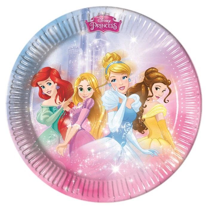 Prensesler Temalı Karton Tabak
