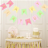 Simli Kız Happy Birthday Yazı