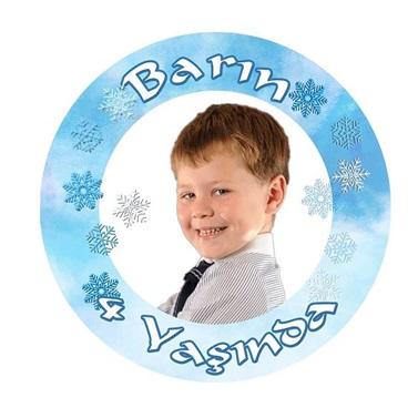Kar Taneli Kişiye Özel Sticker