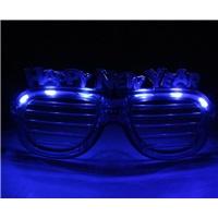 Mavi Happy New Year Işıklı Gözlük