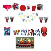 Spiderman SüperTemalı Parti Seti