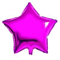 Fuşya Yıldız Folyo Balon