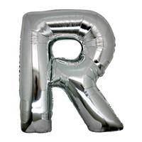 R Harf Gümüş Küçük Folyo Balon
