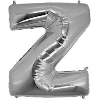 Z Harf Gümüş Küçük Folyo Balon