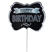 Siyah Happy Birthday Konuşma Balonu