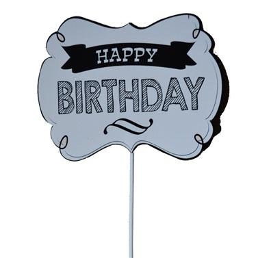 Konuşma Balonu Beyaz Happy Birthday