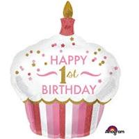 1 Yaş Happy Birthday Cupcake Folyo Balon