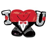 I Love You Sevgililer Günü Folyo Balon