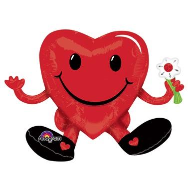 Emoji Kalp Folyo Balon Kırmızı
