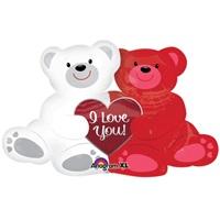 Sevgililer Günü Ayıcıklı Folyo Balon