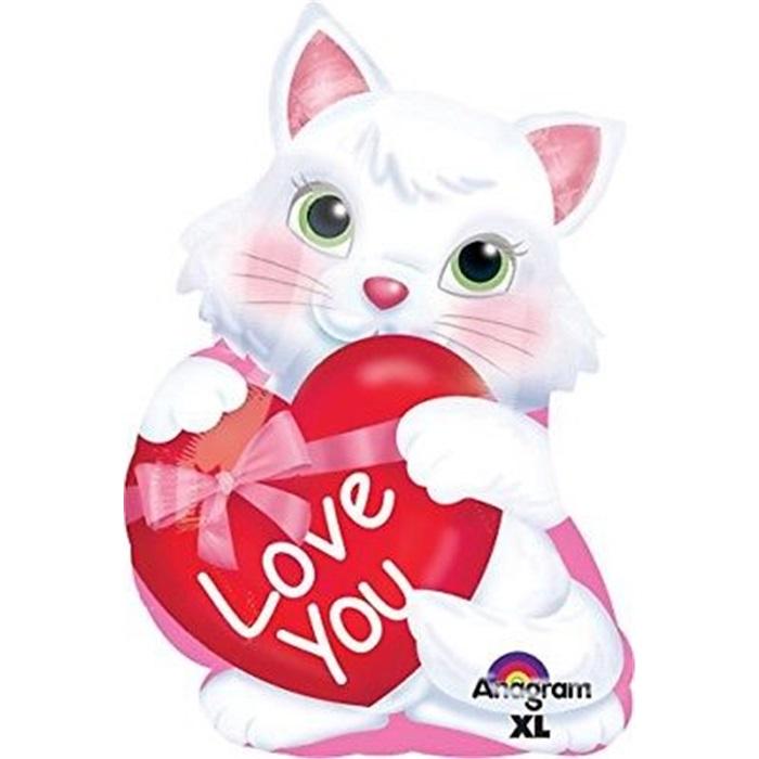 Sevgililer Günü Kedicik Love You  Folyo Balon