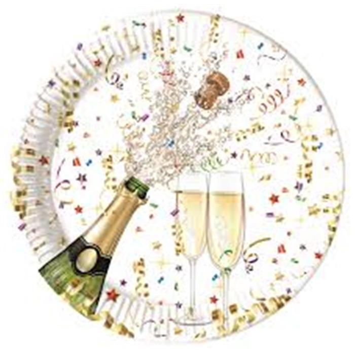 Şampanya Desenli Tabak