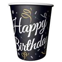 Konfeti Temalı Happy Birthday Karton Bardak