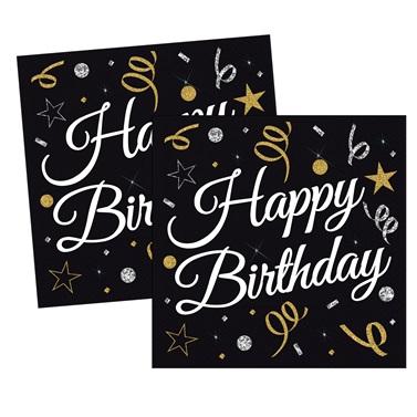 Konfeti Temalı Happy Birthday Peçete