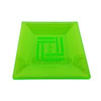 Kristal Yeşil Fosforlu Mika Kare Tabak