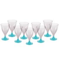 Açık Mavi Ayaklı Şarap Bardağı