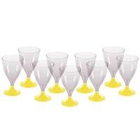 Sarı Ayaklı Şarap Bardağı
