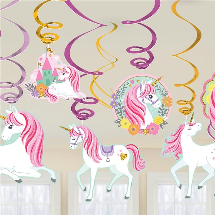 Unicorn 12 Parça Asma Süs