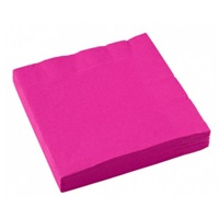 Fuşya Renkli Kağıt Peçete