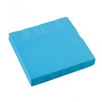 Açık Mavi Turkuaz Renkli Kağıt Peçete