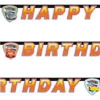 Cars Happy Bırthday Yazı banner
