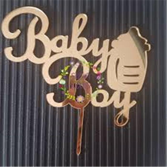 Pleksi Baby Boy Gold Pasta Süsü