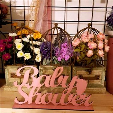 Ahşap Baby Shower  Masa Süsü