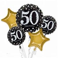 50 Yaş  Folyo Balon Demeti