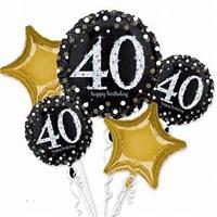 40 Yaş Folyo Balon Demeti