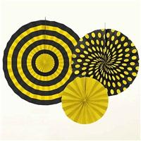 Sarı Siyah Puanlı 3 Lü Çark Süs