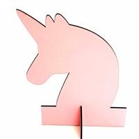 Unicorn Ahşap Masa Üstü Süsü