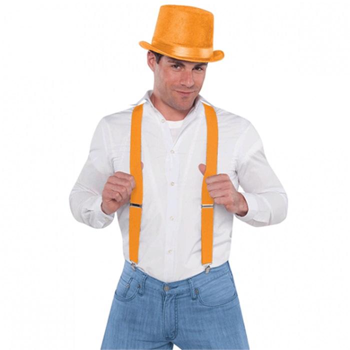 Turuncu Fosforlu Pantolon Askılığı