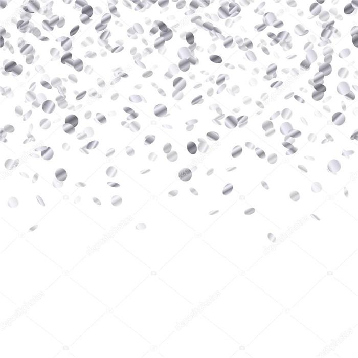 Gümüş Patlayan Konfeti