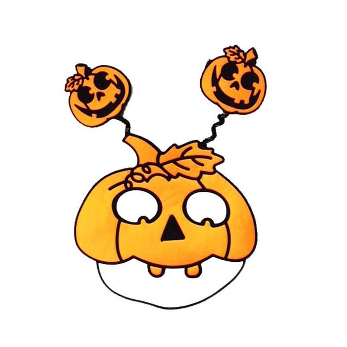 Halloween Cadılar Bayramı Balkabağı Maske Turuncu