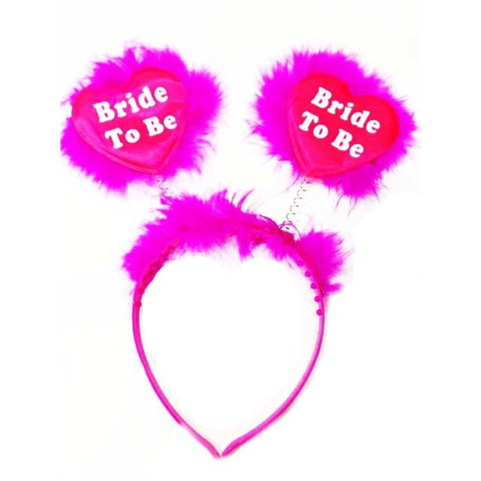 Bride To Be Fuşya Kalpli Taç