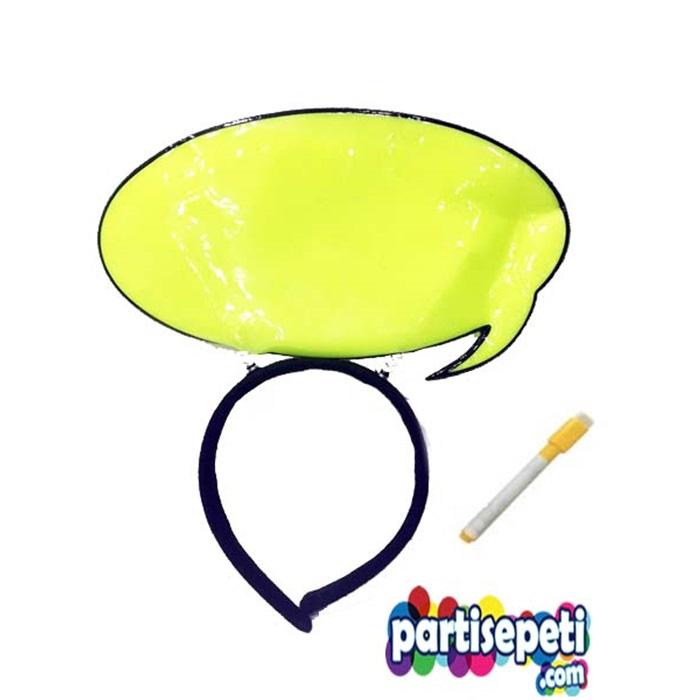 Konuşma Balonlu Yeşil Parti Taç