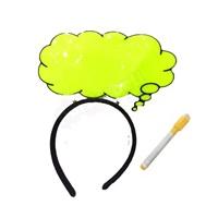 Bulut Konuşma Balonlu Yeşil Parti Taç