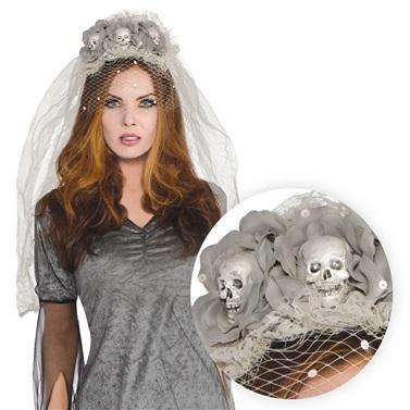 Cadılar Bayramı Halloween Hayalet Gelin Kafatası Taç