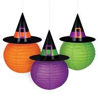 Cadılar Bayramı Cadı Şapka Fener Süs