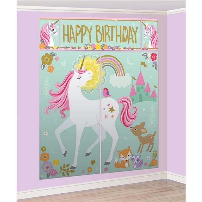 Fotoğraf Sahne Unicorn ile Sahne Dekorasyon Seti