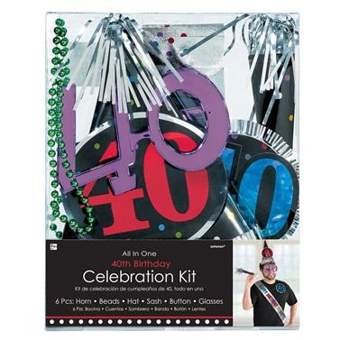 40 Yaş Doğum Günü Kutlama Seti Gözlük Şapka Kanat
